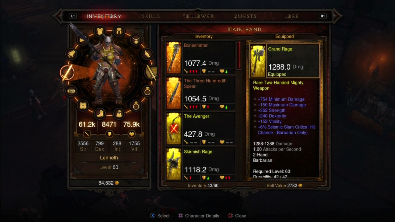 Diablo III console review screenshot