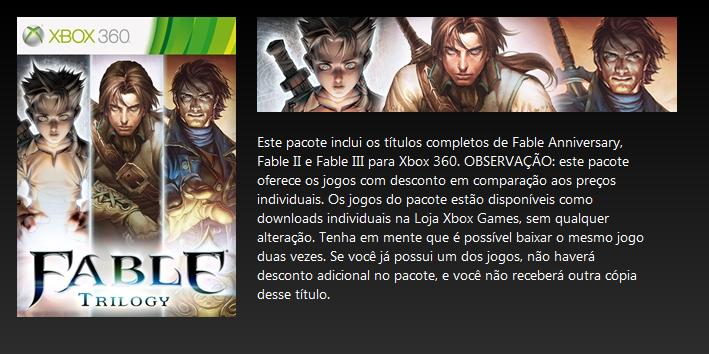 Fable Trilogy xbox marketplace
