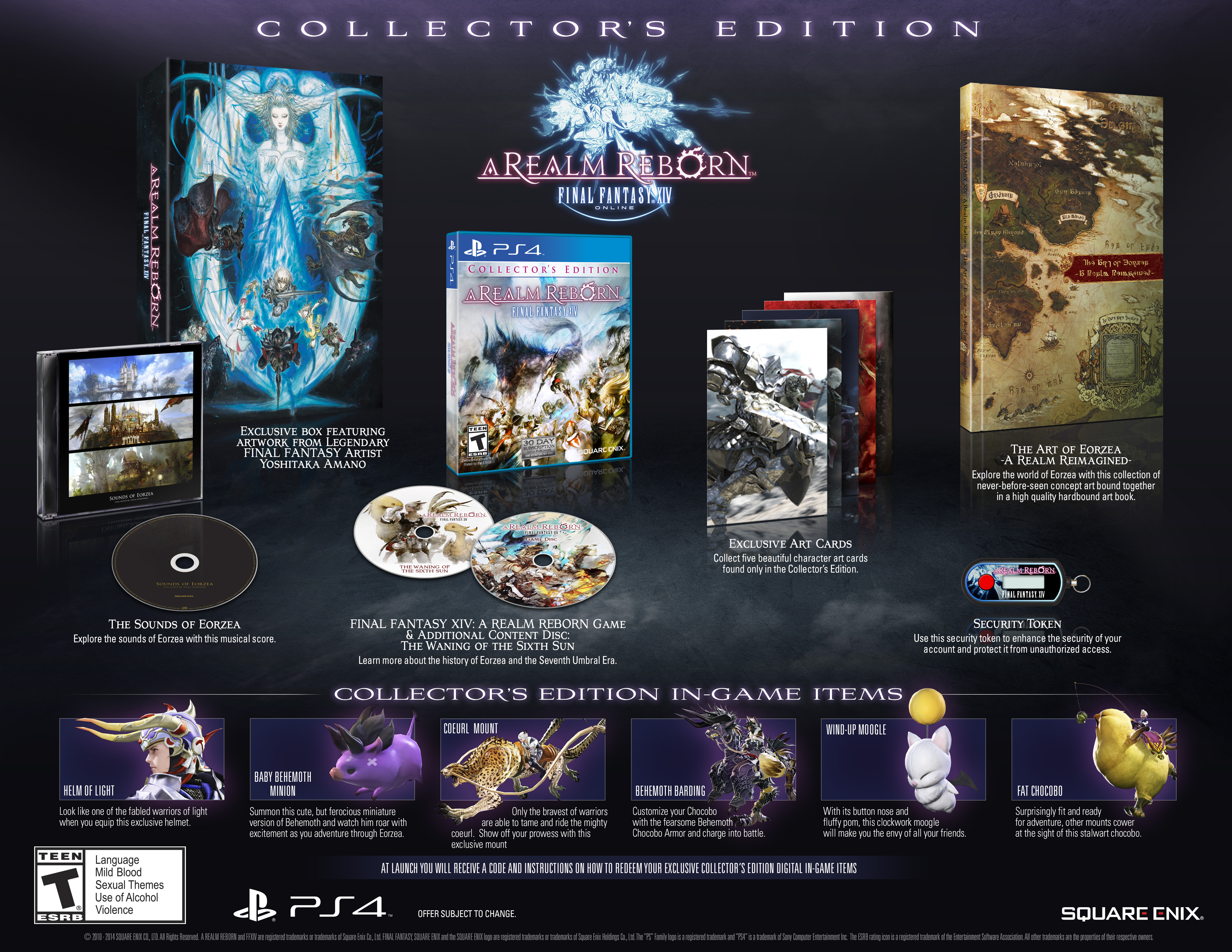Final Fantasy XIV A Realm Reborn CE PS4