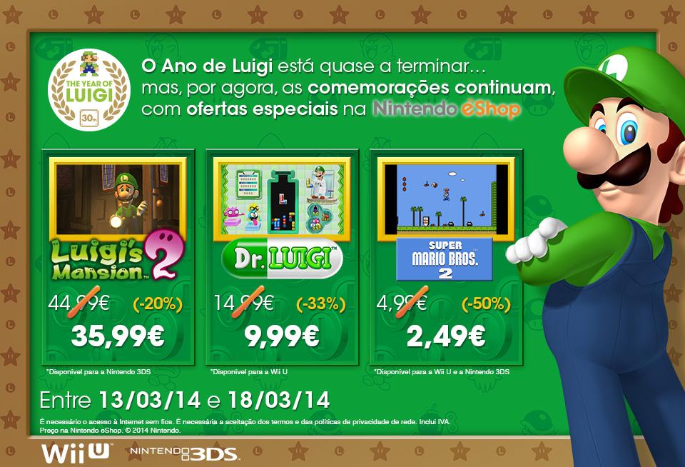Promoção Ano de Luigi Nintendo eShop pt2