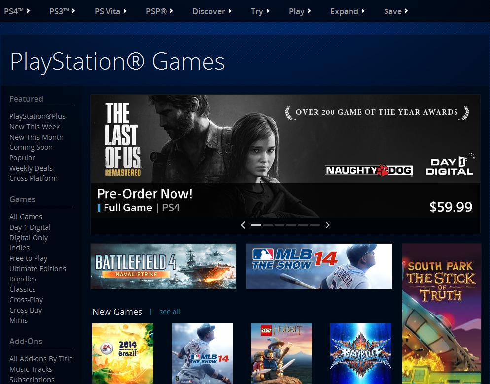 The Last of Us Remastered psn banner