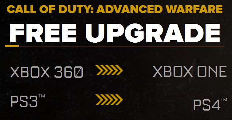 cod aw free upgrade